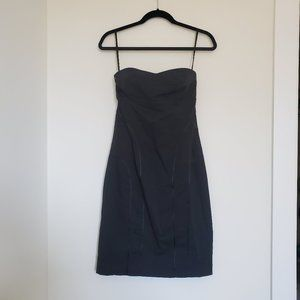 Express Black Strapless Dress